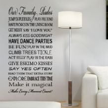 Fun House Rules Wall Sticker  ~ Wall sticker / decals